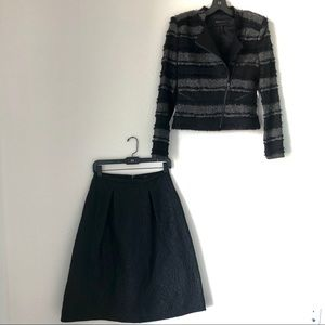 BCBG NWT formal A-line skirt and textured jacket